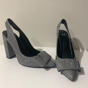 H&M Glitter Block Heels 7